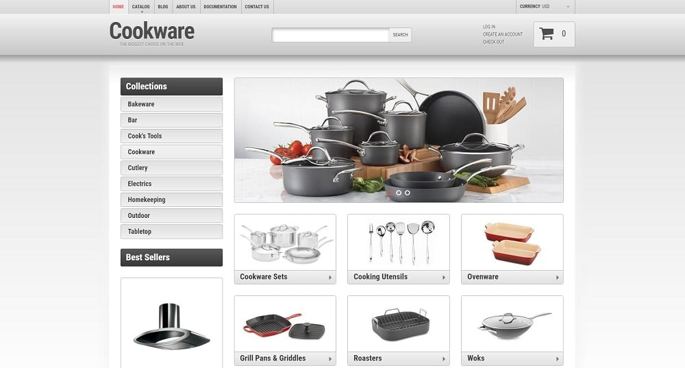 Cookware Shopify Theme