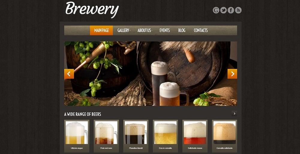 brewery wordpress templates