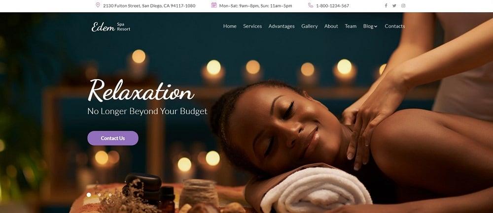 Edem - Sophisticated Beauty Salon WordPress Theme