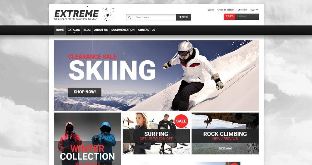 Extreme Sports Gear Shopify Theme