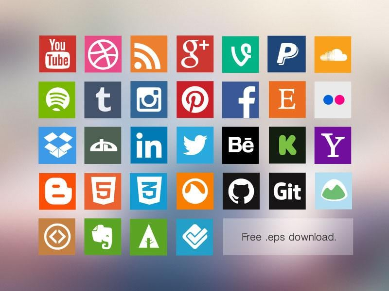 Top Free Social Media Icon Vector Packs From All Over The Web