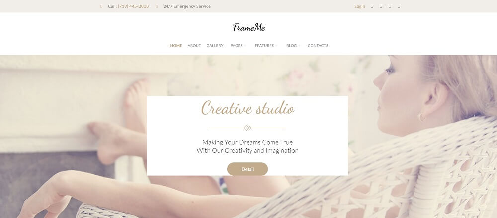 FrameMe - Photography Studio WordPress Theme