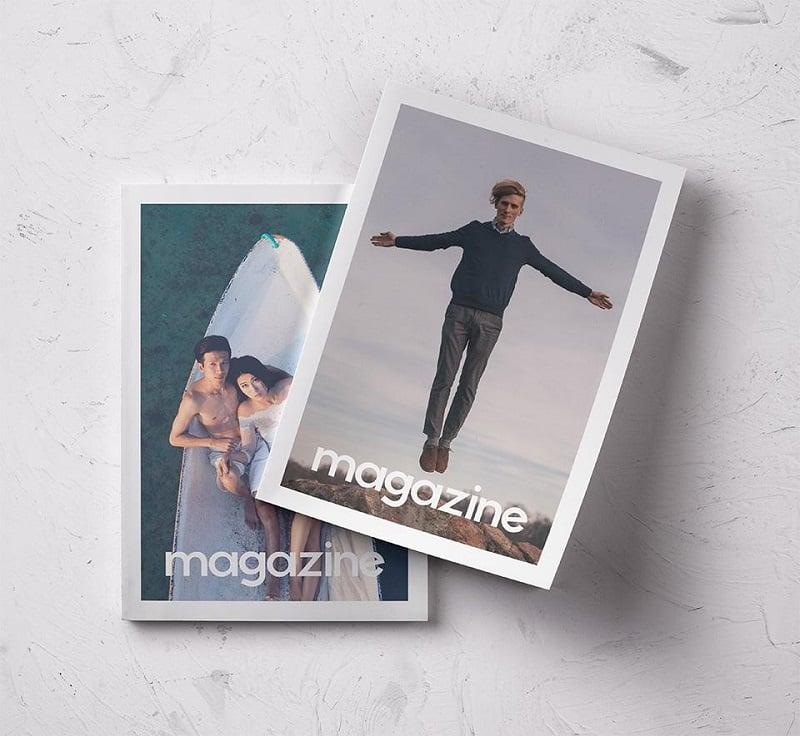Free Beautiful Psd Magazine Mockup