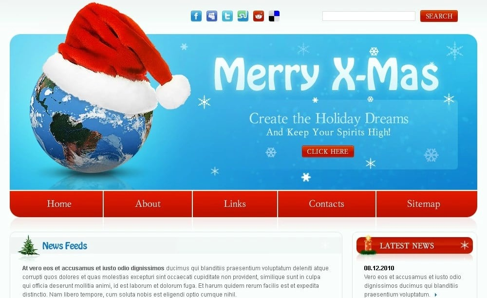 Free Christmas Website Template