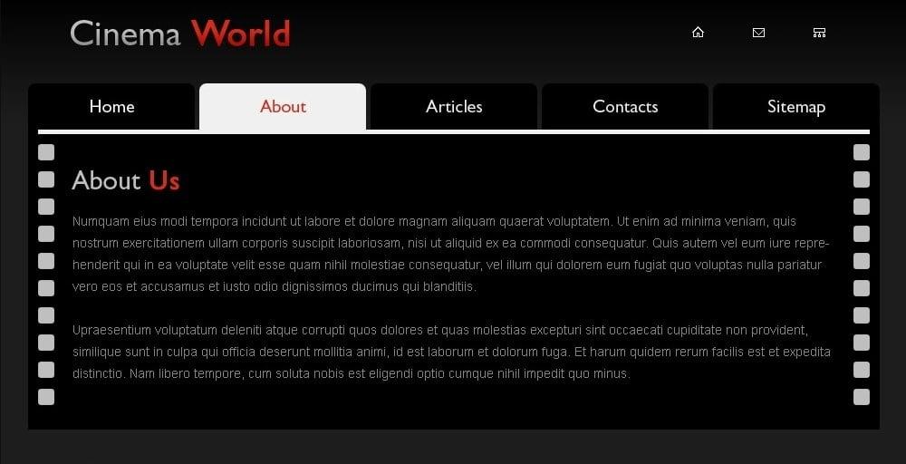 Free Cinema Website Template