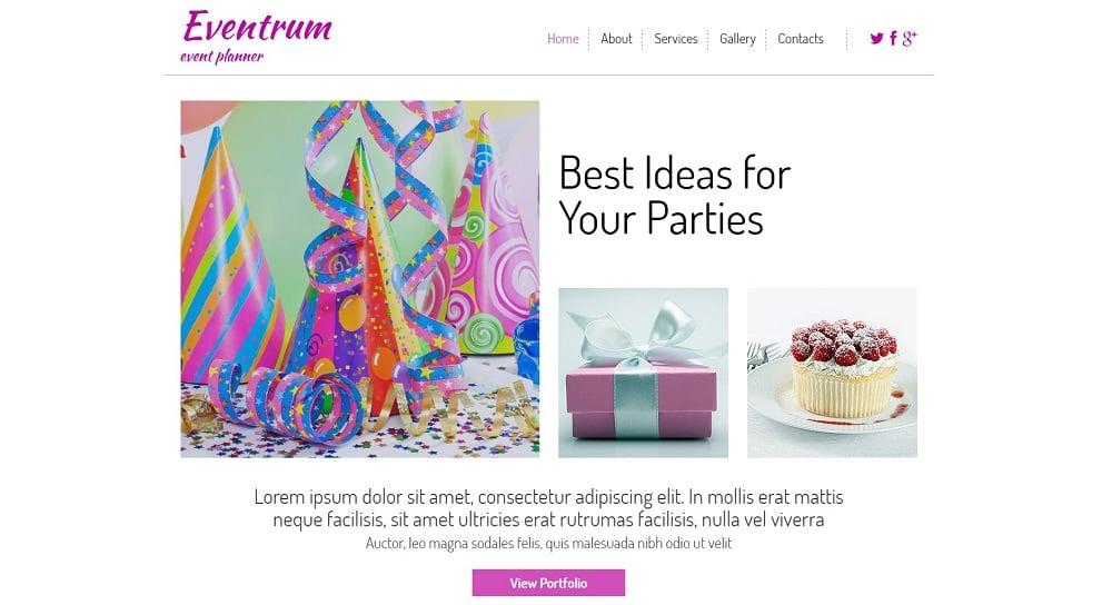 Free HTML5 Theme for Entertainment Site