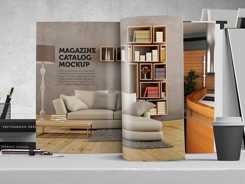 Magazine Catalog Mockup