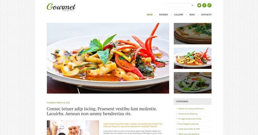 Cooking Responsive WordPress Theme