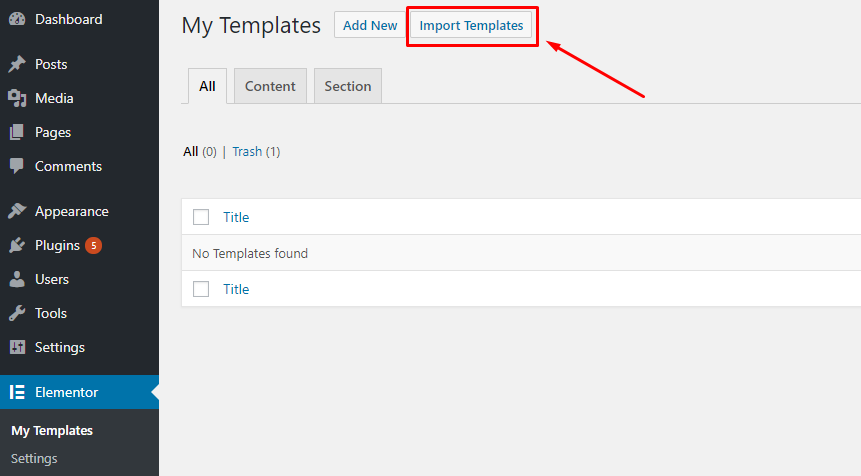 Import Templates