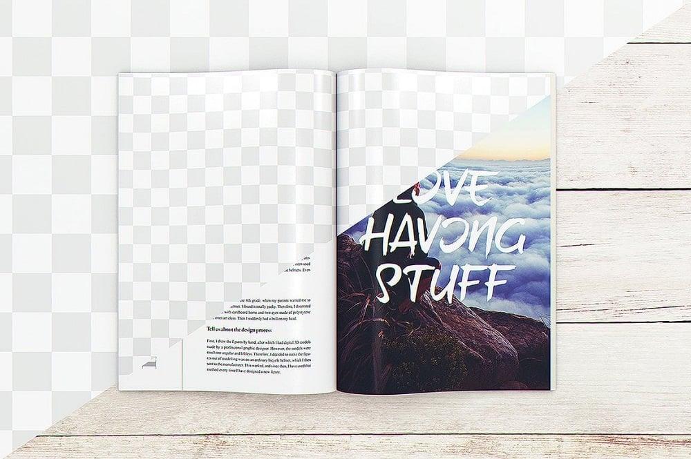 29 Magazine Brochure MockUps + 20 background textures