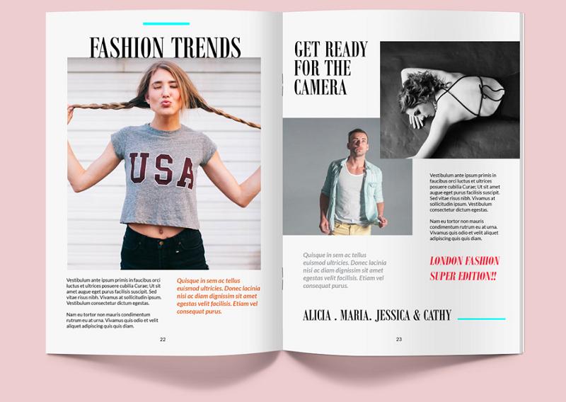 Magazine Mockup PSD Template
