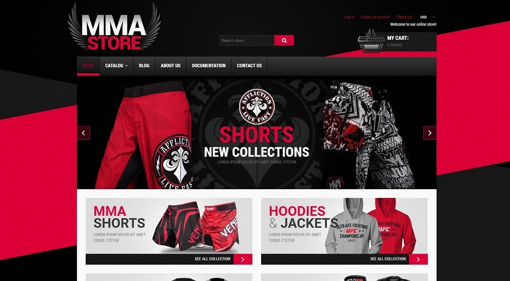 MMA Items Shopify Theme