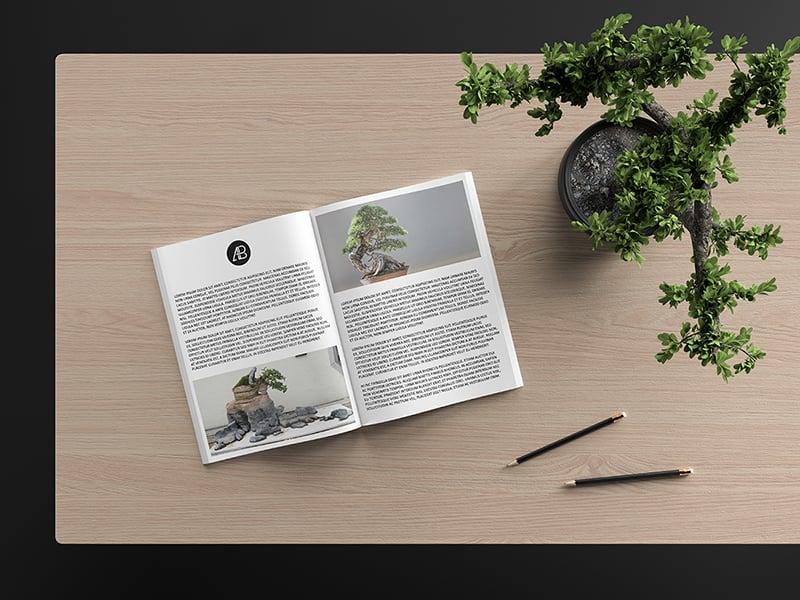 Modern Catalog Magazine Mockup