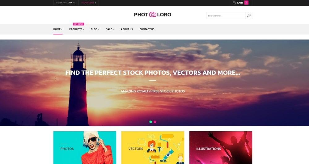 PhotoLoro Shopify Theme