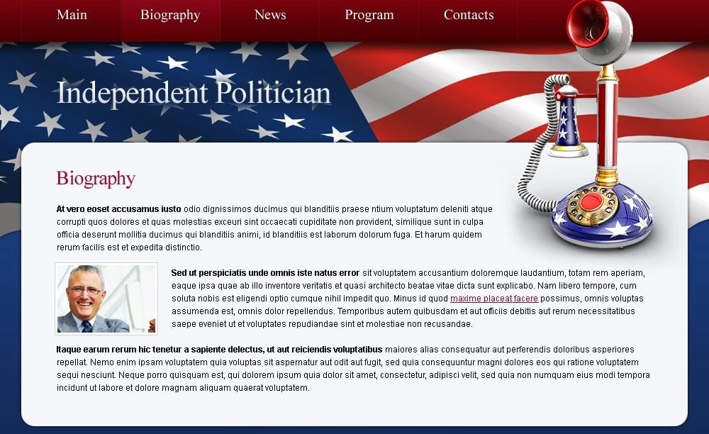 Free Politics Website Template