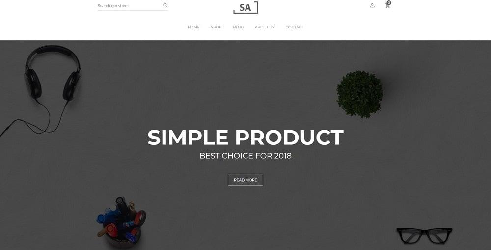 Sa - Minimalist Creative Shopify Theme