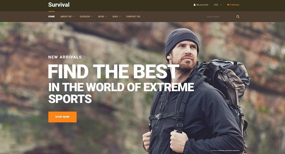 Survival - Travel Equipment Shopify Theme