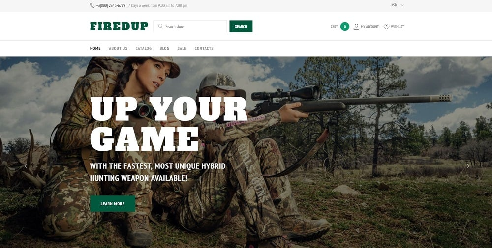 Weapons Store Responsive Shopify Theme