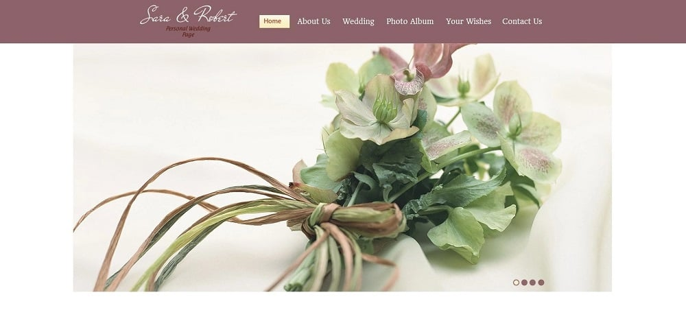 Free Website Template - Wedding