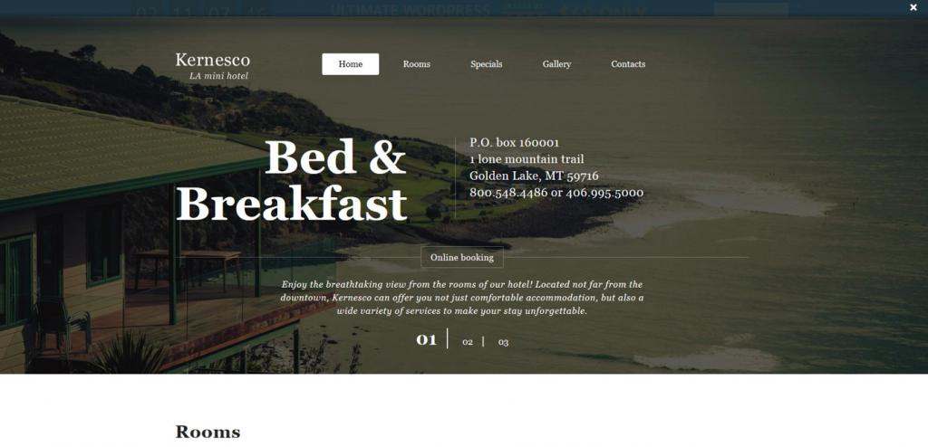 Hotel & Room Booking Website Template