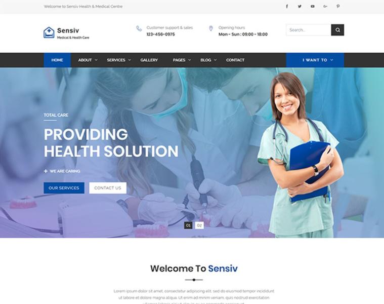 Sensiv - Responsive Health And Medical Website Template