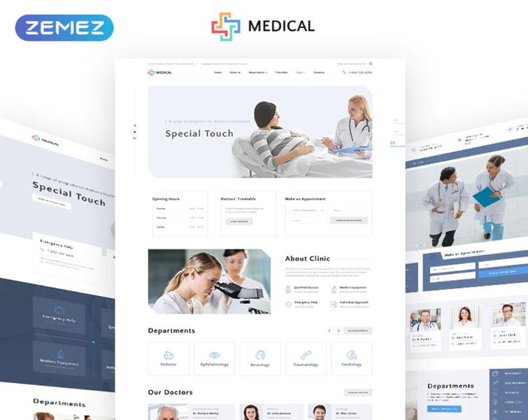 Medical - Private Medical Center Multipage Website Template