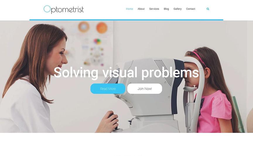 Optometrist Website Template