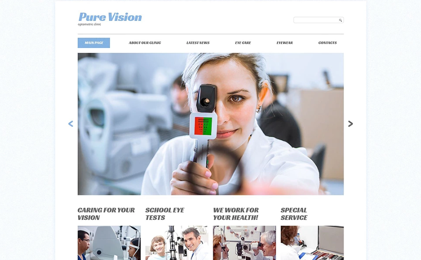 Pure Vision Website Template