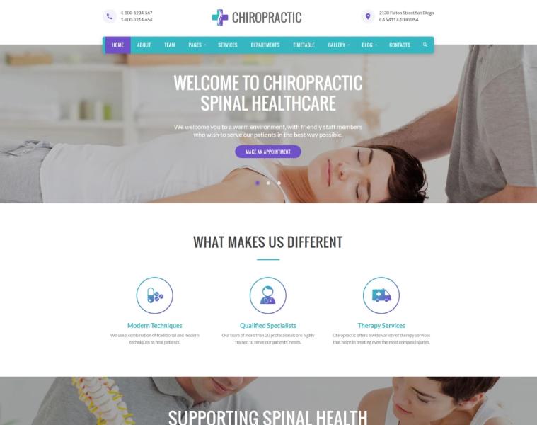 Chiropractic - Alternative Medicine Website Template