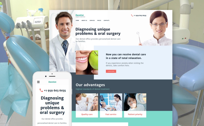 Cosmetic Dentistry Website Template