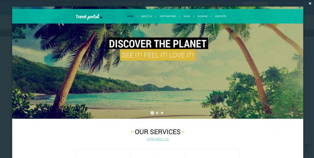 Travel Responsive Website Template