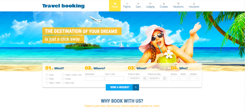 Airline Tickets Responsive Website Template