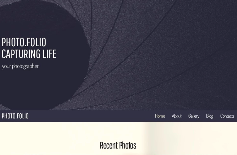 Free Responsive HTML5 Theme for Photo Site