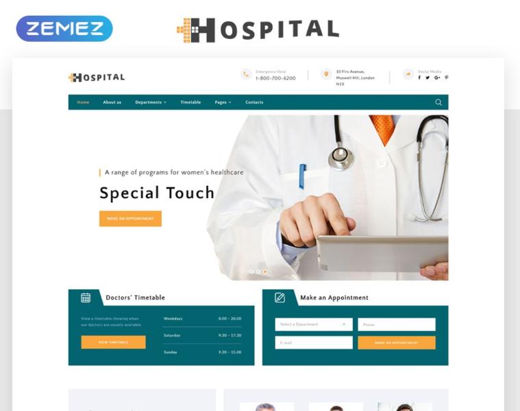 Hospital - Medical Service Multipage HTML5 Website Template