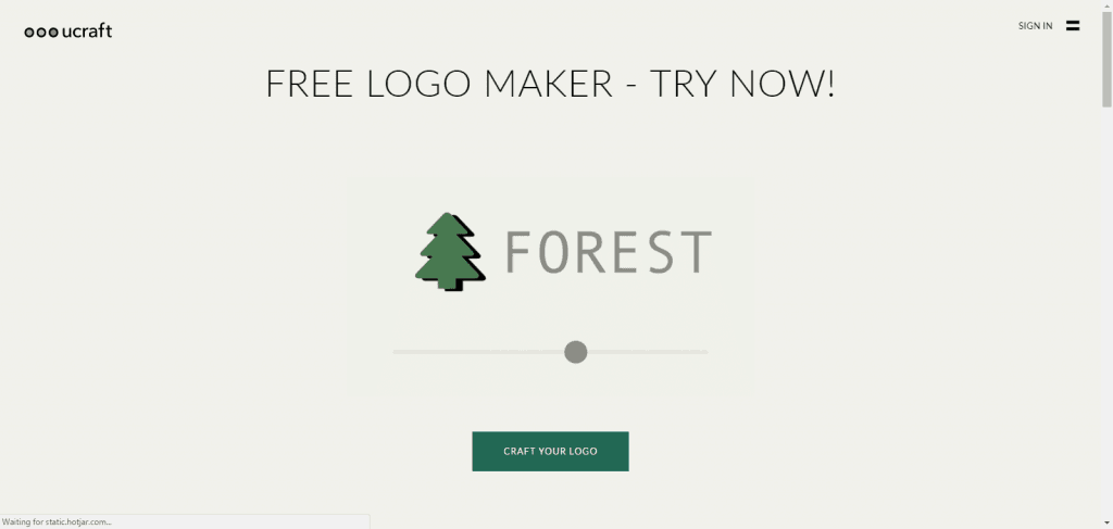 Ucraft Free Logo Design and Download
