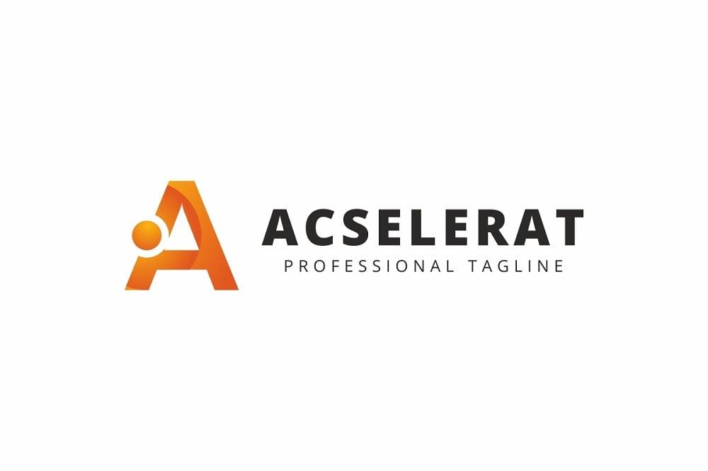 Acselerat A Letter Logo Template