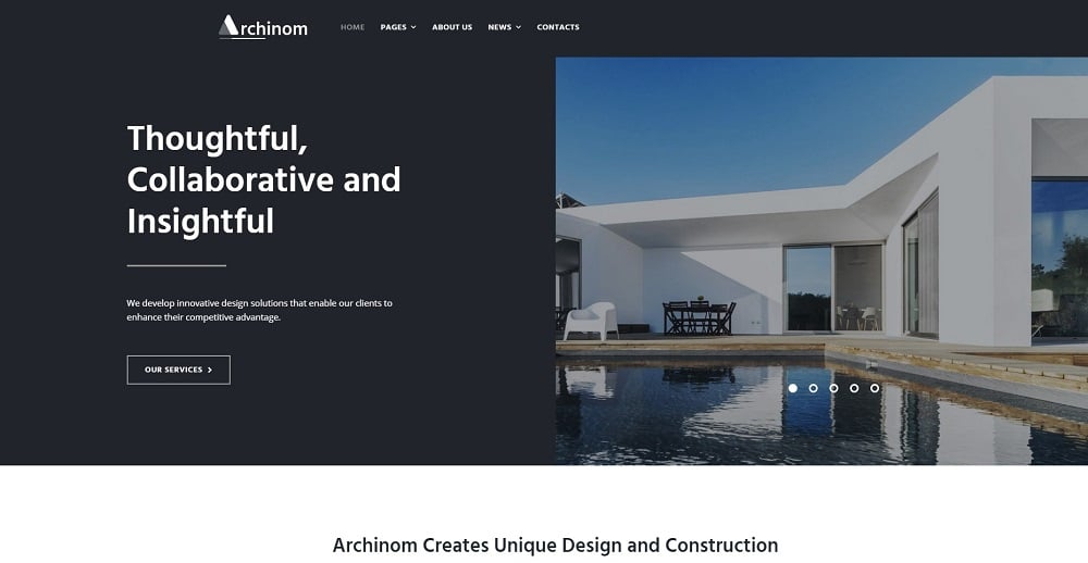 Archinom - Architect Elementor WordPress Theme