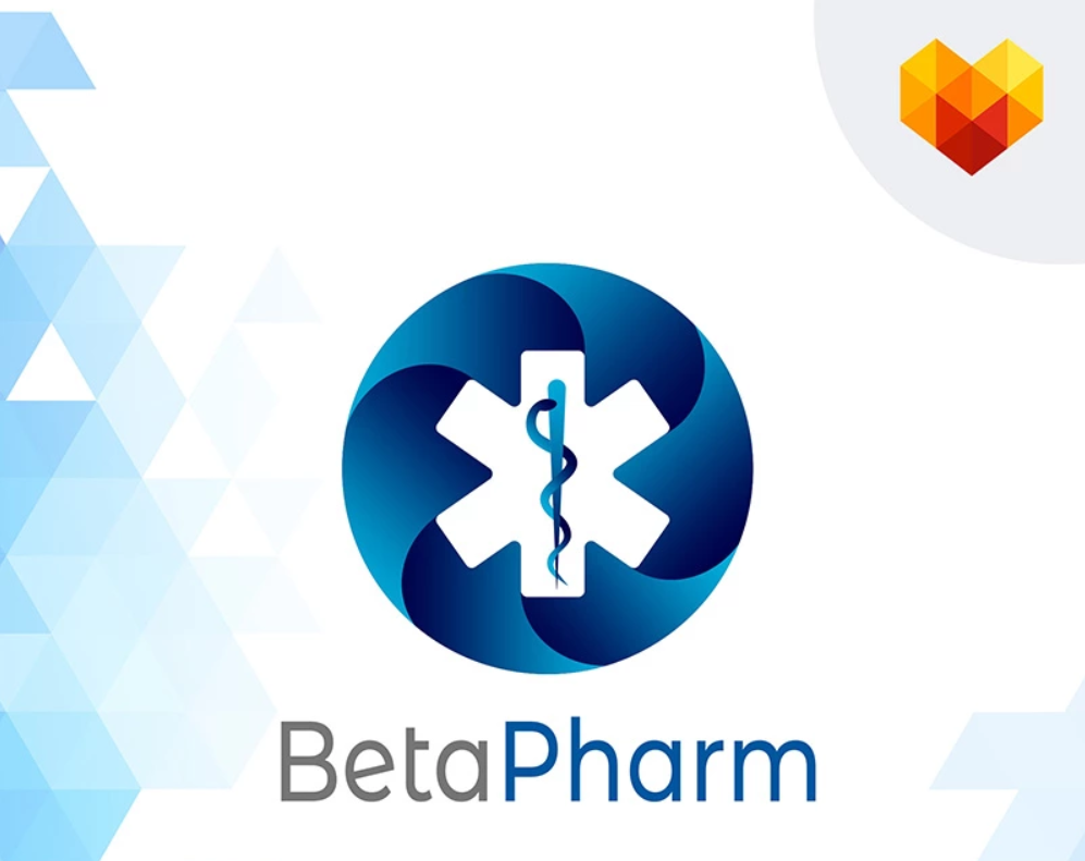 Beta Pharm Medical Logo Template