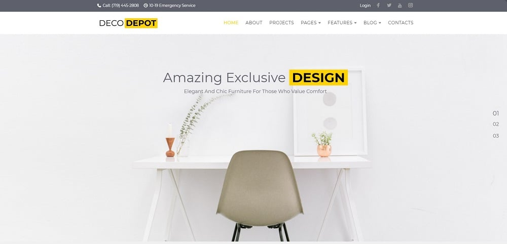 Furniture Company WordPress Theme