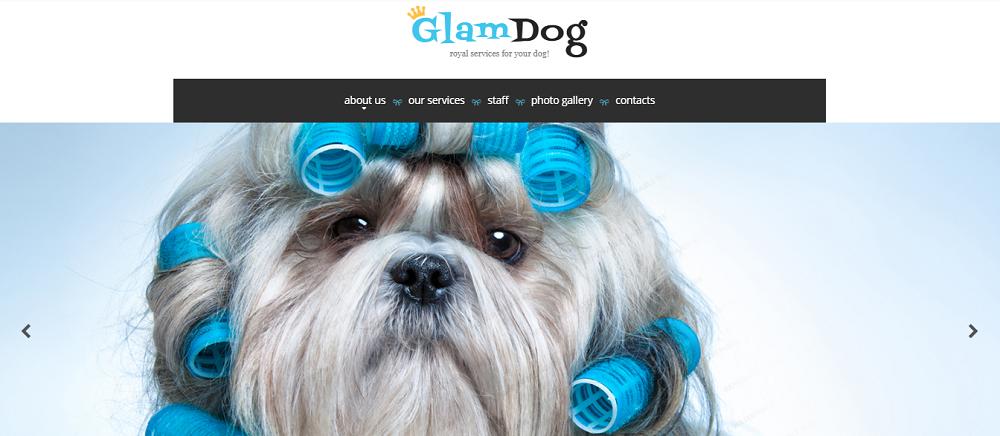 Dog Grooming Website Template
