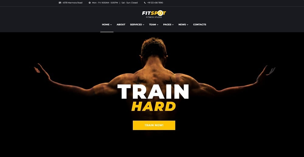 FitSpot - Fitness Studio Elementor WordPress Theme