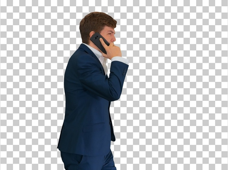 Handsome Young Businessman Talking Stock Video