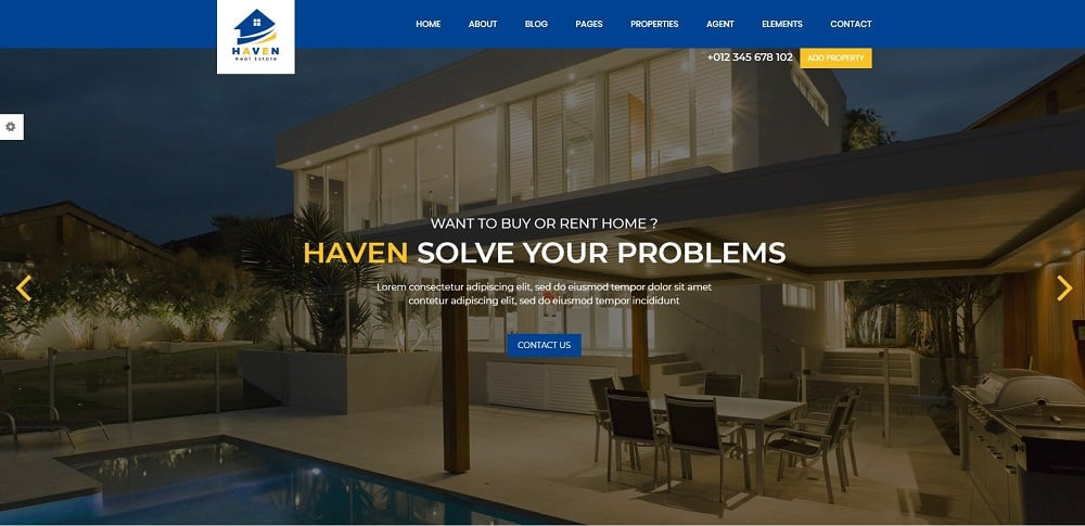 Haven - Real Estate Website Template