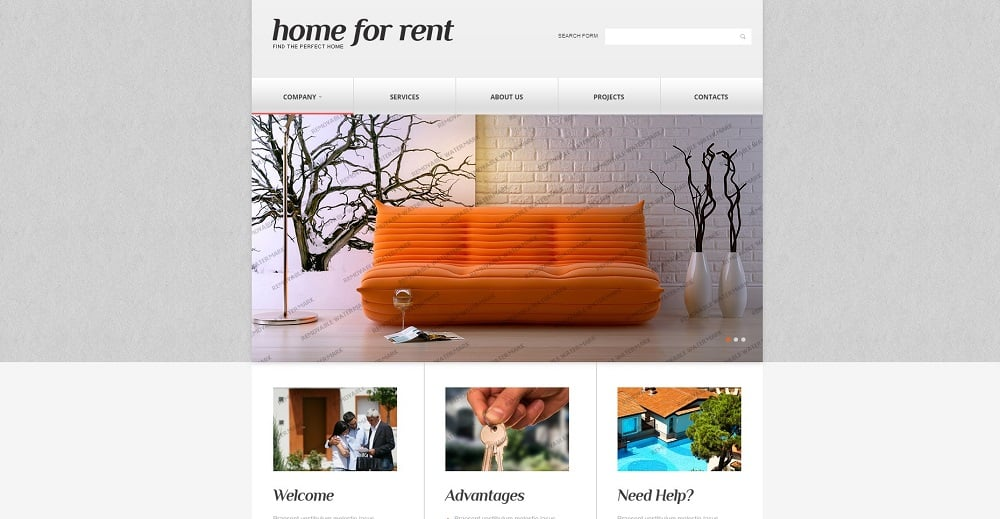 Real Estate Responsive Website Template