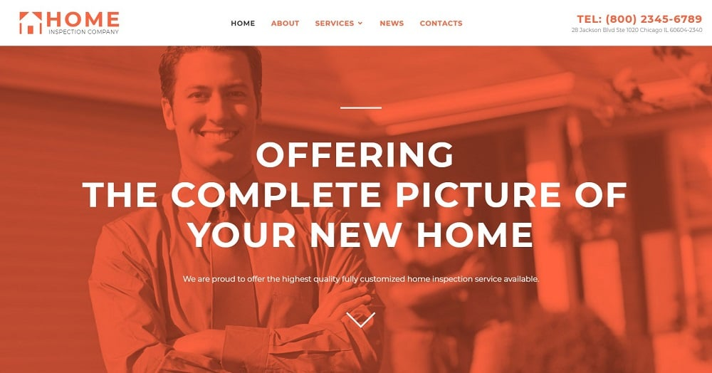 Home Inspector Responsive Website Template