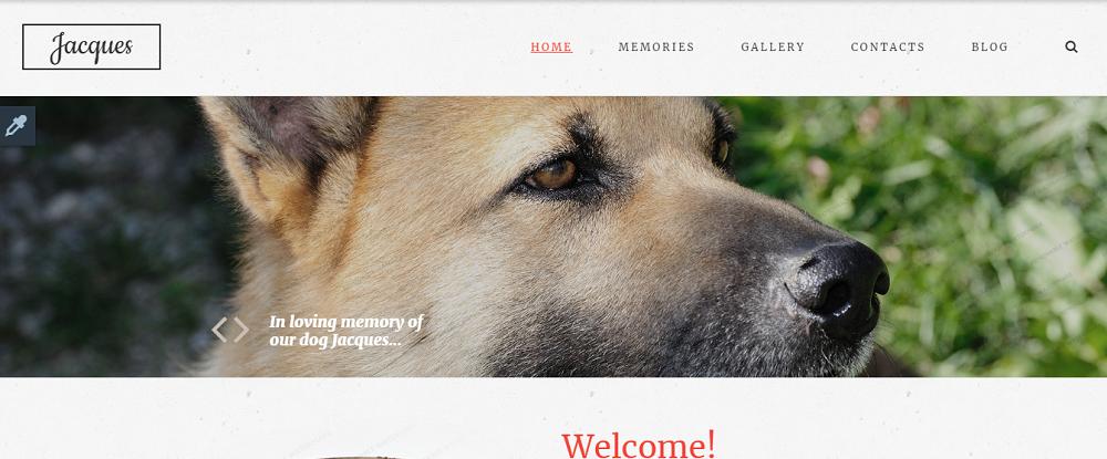 In Loving Memory Website Template