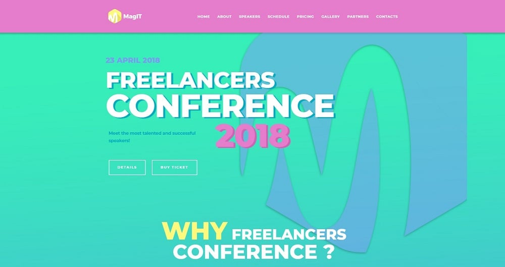 MagIT - IT Conference Elementor WordPress Theme
