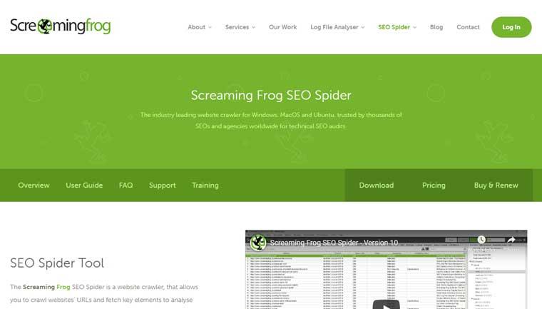 Screaming Frog.