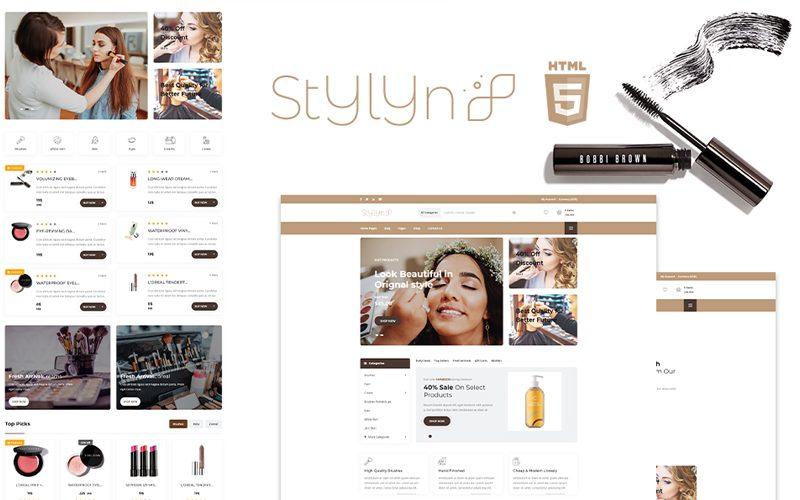 Multi-functional Stylyn - Cosmetic And Beauty Shop WordPress Theme