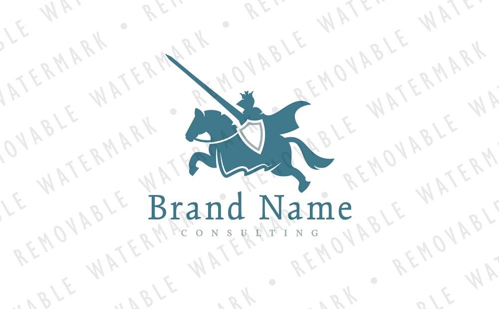 Tournament Knight Logo Template